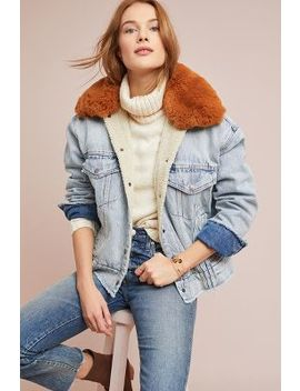 Levi's Faux Fur Trucker Denim Jacket by Levi's
