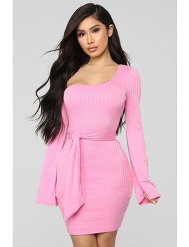 Pack Me Up Ribbed Mini Dress   Pink by Fashion Nova