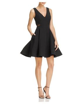 Mesh Side Fit And Flare Dress   100 Percents Exclusive by Aqua