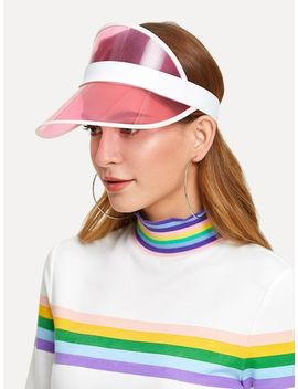 Two Tone Visor Hat by Sheinside