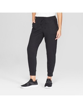 Women's Lace Trim Jogger Pants   Knox Rose™ Black by Knox Rose