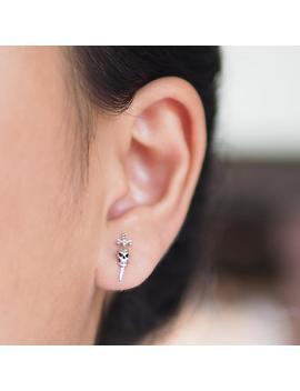 Skull Dagger Stud Earrings, Skull Earrings, Knife Earrings, Dagger Jewelry,  / Br160 by Etsy