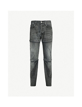 Zip Embellished Regular Fit Straight Jeans by Balenciaga