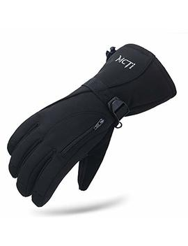 Mc Ti Waterproof Mens Ski Gloves Winter Warm 3 M Thinsulate Snowboard Snowmobile Cold Weather Gloves by Mc Ti