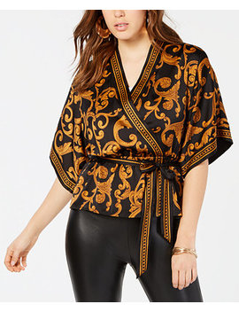 Shakira Gilded Kimono Top by Guess