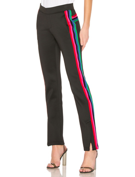 R19 Track Pant With Rainbow Stripes by Pam & Gela