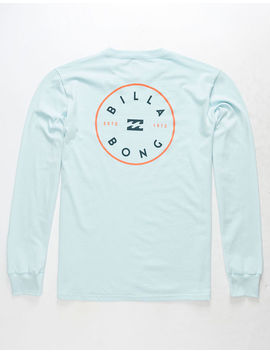 Billabong Rotor Hand Light Blue Mens T Shirt by Billabong