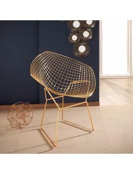Abbyson Living Alexa Goldtone Iron Accent Chair by Abbyson