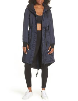 Locust Water Resistant Hooded Anorak With Faux Fur Trim by Blanc Noir