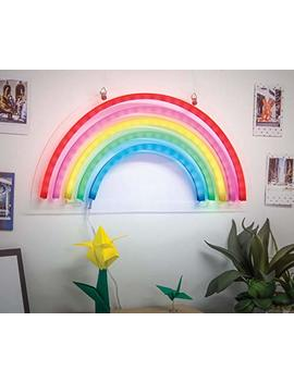 West & Arrow Rainbow Neon Lights,Rainbow Neon Signs Lamps Marquee Battery Usb Operated Table Led Ligths Hanging Wall Decoration Girls Bedroom,Living Room, Christmas,Party As Kids Gift (Rainbow) by Merkury Innovations
