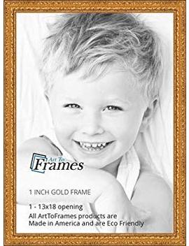 Art To Frames 13x18 Inch Gold Wood Picture Frame, 2 Wom80801 Gld 13x18 by Art To Frames