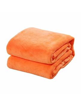 Liobaba Solid Color Blanket Coral Fleece Comfortable Home Bed Sofa Blanket 27.55 Inch X 39.37 Inch by Liobaba