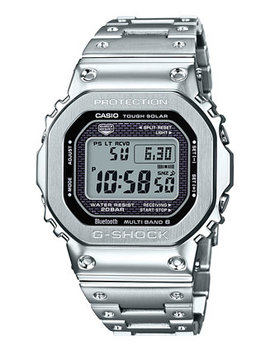 Men's Digital Stainless Steel Bracelet Watch 42.8mm by G Shock