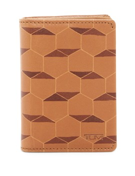 Gusseted Leather Card Case by Tumi