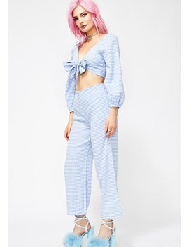 Sky Femme Fantasy Gingham Set by Evenuel