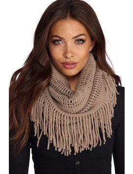Square Knit Infinity Scarf by Windsor