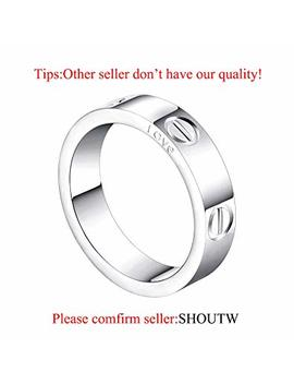 Shoutw 6mm Unisex Rings With Screw Design Best Gifts For Love Gold by Shoutw
