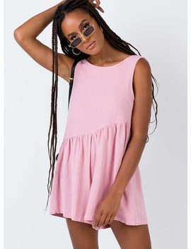The Alder Playsuit Pink by Princess Polly