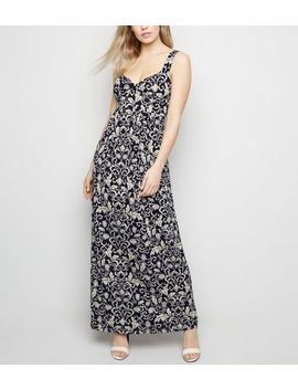 Mela Blue Floral Maxi Dress by New Look