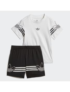 Outline Tee Shorts Set by Adidas