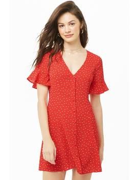 Abstract Dot Fit & Flare Dress by Forever 21