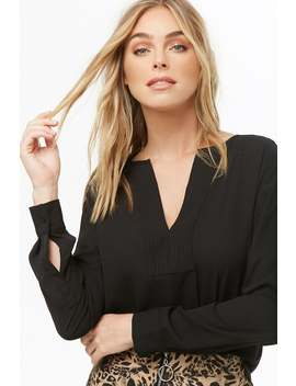 Chiffon Split Neck Top by Forever 21