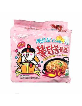 Samyang Carbo Hot Chicken Flavor Ramen / Spicy Chicken Roasted Noodles 130g (Pack Of 5) by Amazon