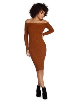 Spiced Up Knit Midi Dress by Windsor