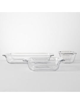 Set Of 3 Bakeware Set Glass   Made By Design™ by Shop This Collection