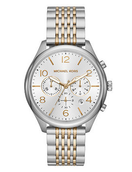 Men's Merrick Two Tone Stainless Steel Bracelet Watch 42mm by Michael Kors