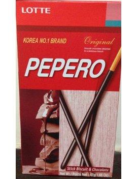 Pepero Korean Snack Chocolate Stick Original Pocky X 3 by Pepero