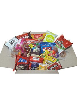 Sweet Korean Snack Box (22 Type 25 Ea)/Various Korean Snacks, Chips, Cookies, Candy, Ramen/Gift Package by Ddowa