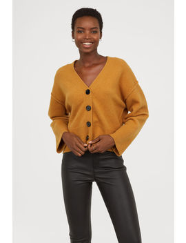 V Cardigan Aus Wollmix by H&M