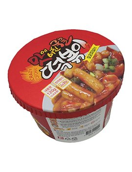 Korean Spicy Cup Rice Cake Crazy Tteokbokki 1pack(Original Flavor) by Crazy Tteokbokki