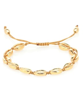 Puka Shell 22kt Gold Plated Bracelet by Tohum Design