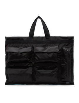 Black & Blue Eastpak Edition Poster Tote by Raf Simons