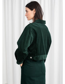 Cropped Corduroy Workwear Jacket by & Other Stories