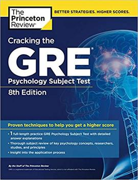 Cracking The Gre Psychology Subject Test, 8th Edition (Graduate School Test Preparation) by Princeton Review
