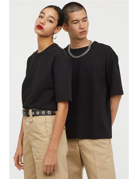 T Shirt Z Domieszką Bawełny by H&M