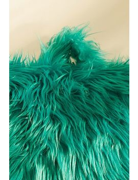 Furry Green Boo Cushion by Urban Outfitters