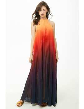 Ombre Pleated Maxi Dress by Forever 21