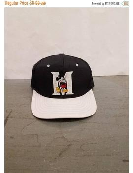 New Year Sale 15 Percents Off Vintage 90's Original Mickey Mouse Snapback Hat By Fresh Caps. by Etsy
