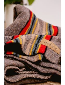 Pendleton Yakima Brown Throw Blanket by Pendleton