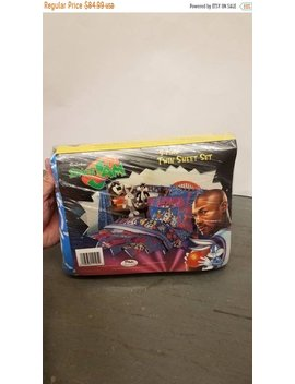 New Year Sale 15 Percents Off Nwt Rare Vintage 1996 Original Space Jam 3 Piece Bed Set. by Etsy
