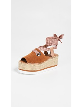 Glyn Amber Lace Up Espadrilles by See By Chloe