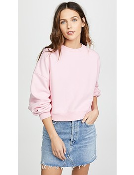 Balloon Sleeve Cropped Sweatshirt by Agolde
