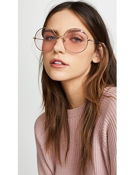 80's Inspired Round Shape Sunglasses by Gucci