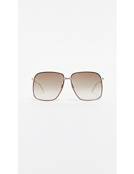 80's Inspired Oversized Sunglasses by Gucci