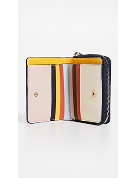 Inside The Box Mini Bi Fold Zip Wallet by Tory Burch