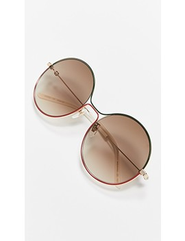 80's Inspired Round Shaped Sunglasses by Gucci